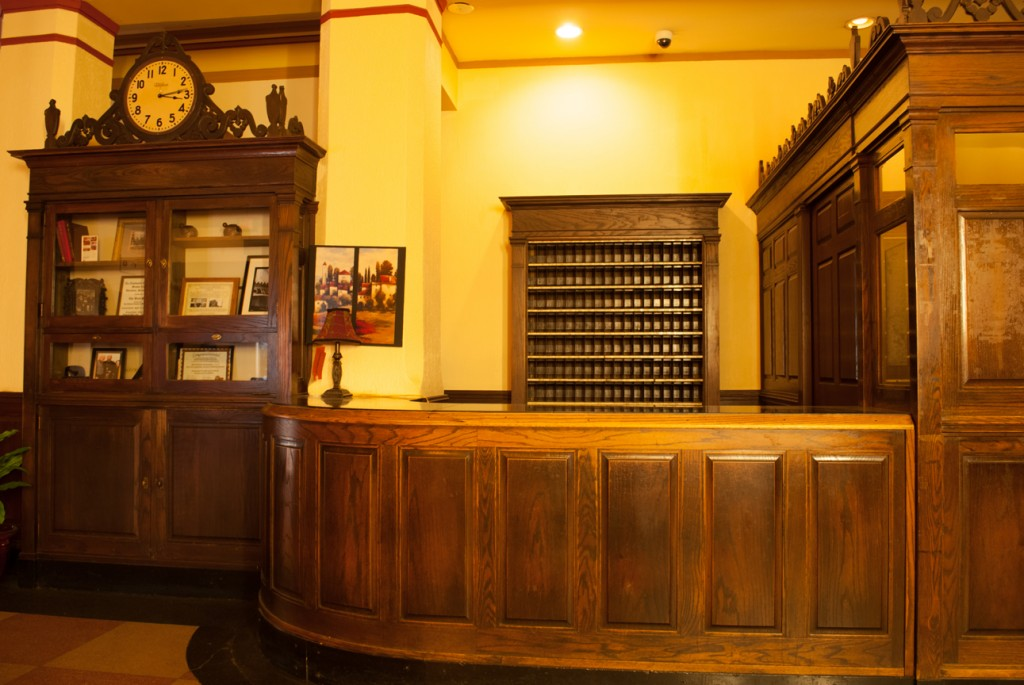 The Front Desk of Ward Hotel Aberdeen.