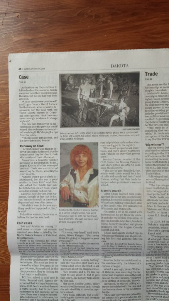 Kristin Joy Diede & Robert Michael Anderson - Bismarck Tribune